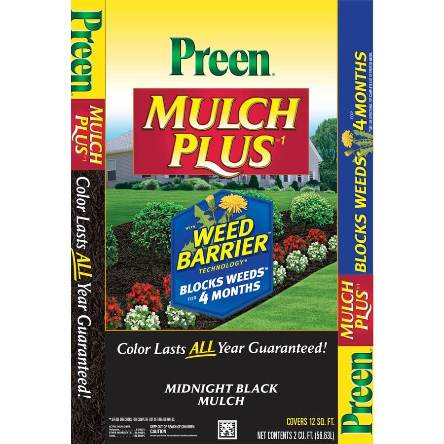 Preen 2-cu ft Black Shredded Mulch