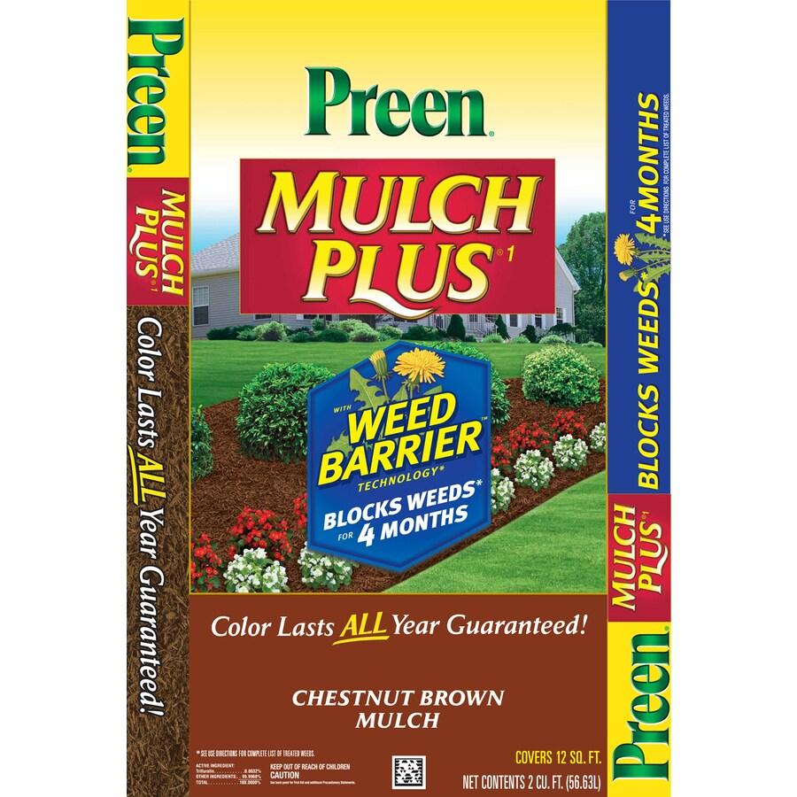 Preen 2-cu ft Dark Brown Shredded Mulch