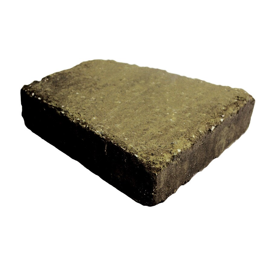 Country Stone Tan/Black Straight Tumbled Concrete Retaining Wall Cap (Common: 12-in x 2-in; Actual: 12-in x 2.3-in)