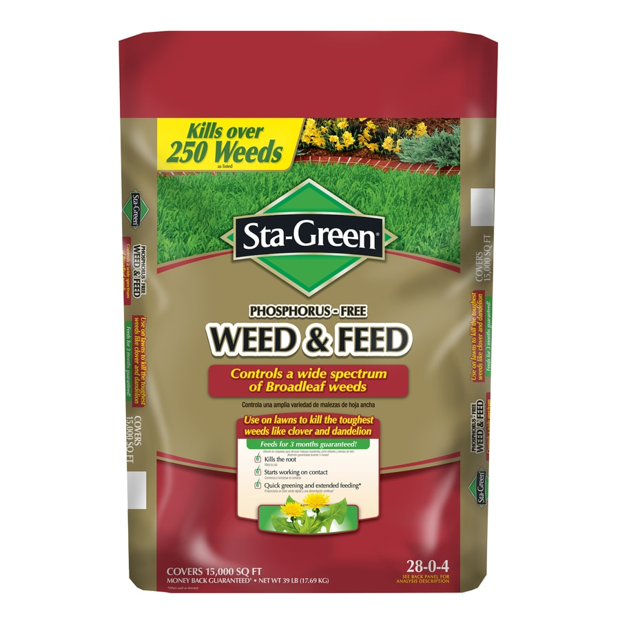 Sta-Green 15,000-sq ft Weed and Feed Lawn Fertilizer (28-0-4)