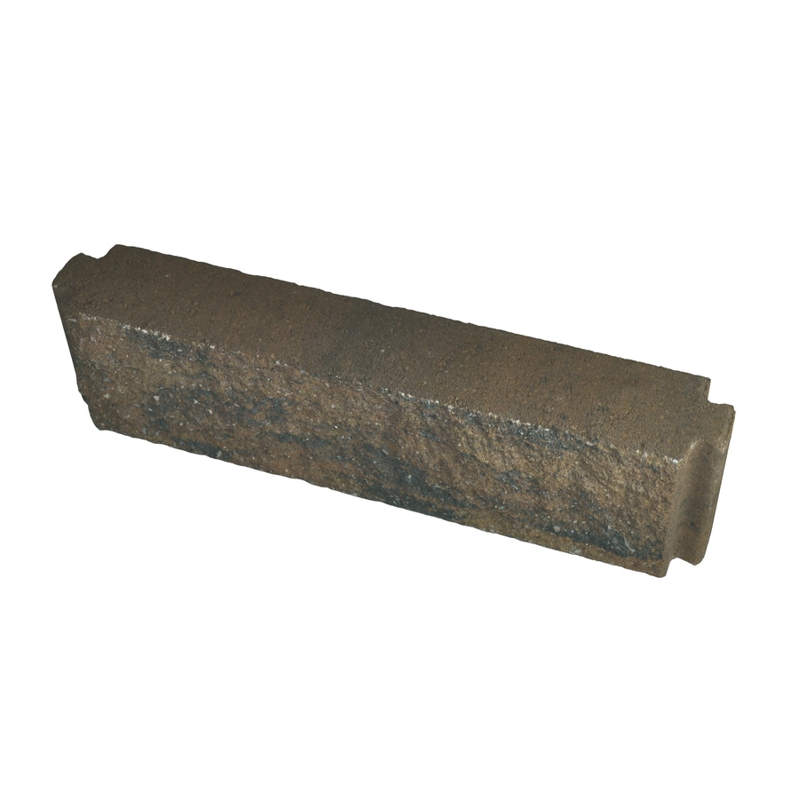 Country Stone Tan/Black Planter Wall Concrete Edging Stone (Common: 6-in x 21-in; Actual: 5.5-in H x 21-in L)