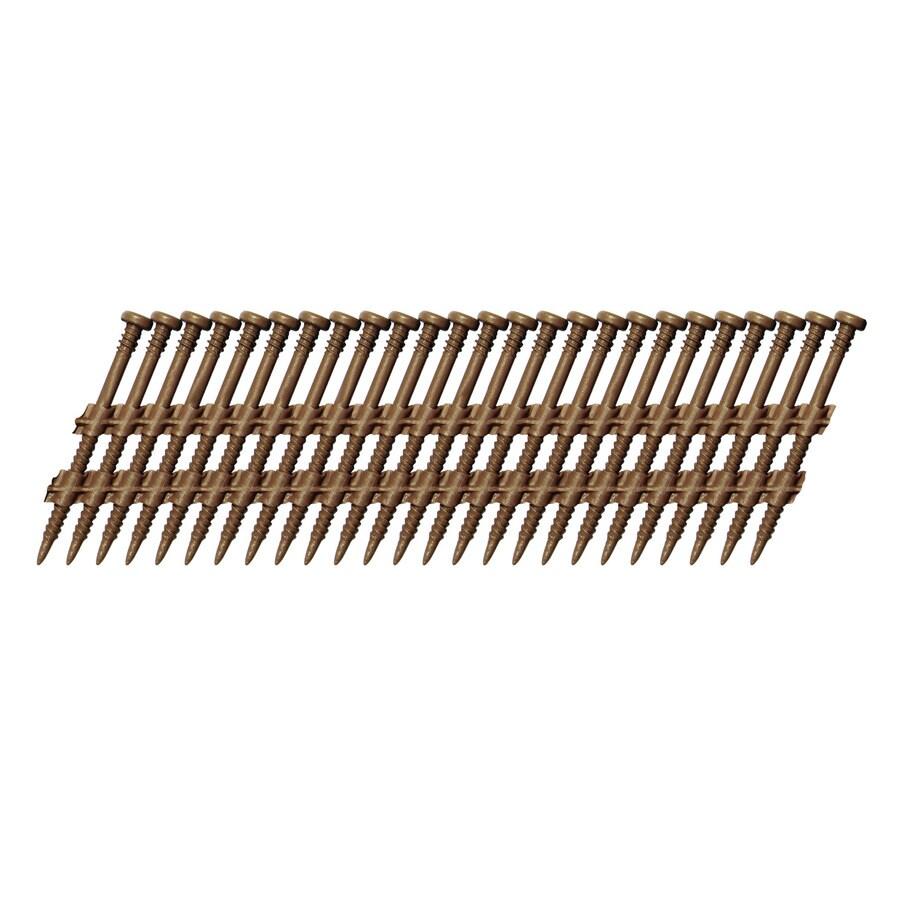 Scrail 1,000-Count #0 x 2.5-in Electro-Galvanized Standard Square-Drive Interior/Exterior Wood Screw