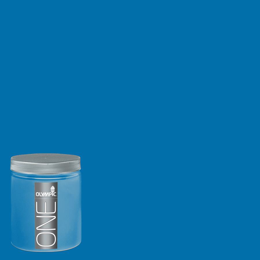 Olympic 8-oz Cobalt Stone Interior Satin Paint Sample