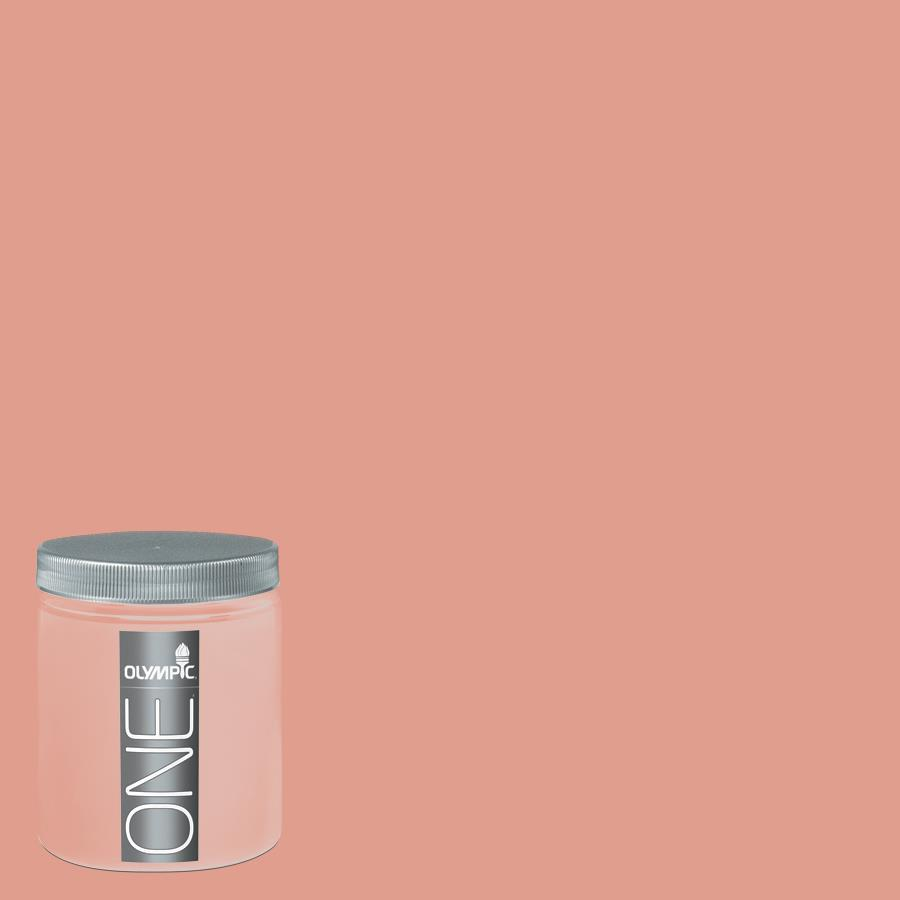 Olympic 8-oz Coral Blush Interior Satin Paint Sample
