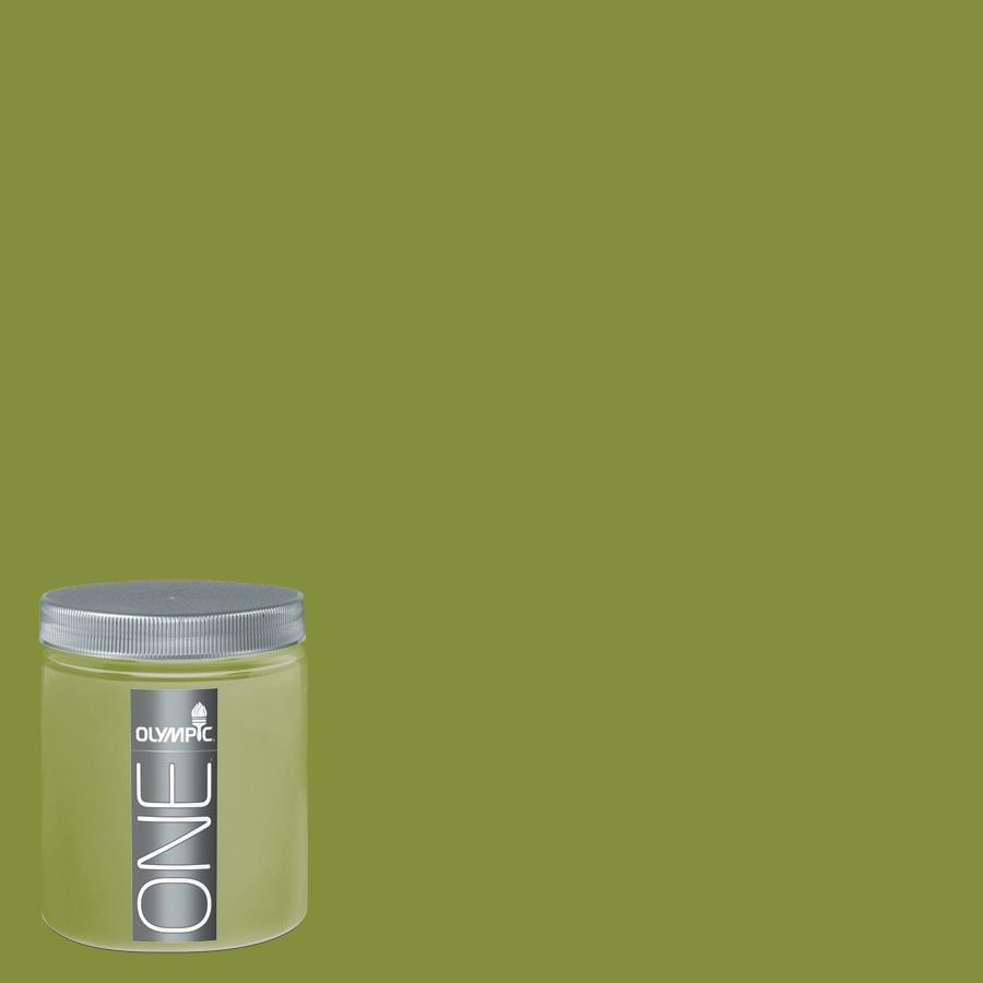 Olympic 8-oz Antique Moss Interior Satin Paint Sample