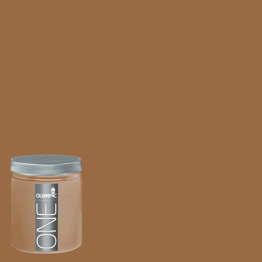 Olympic 8-oz Apple Butter Interior Satin Paint Sample