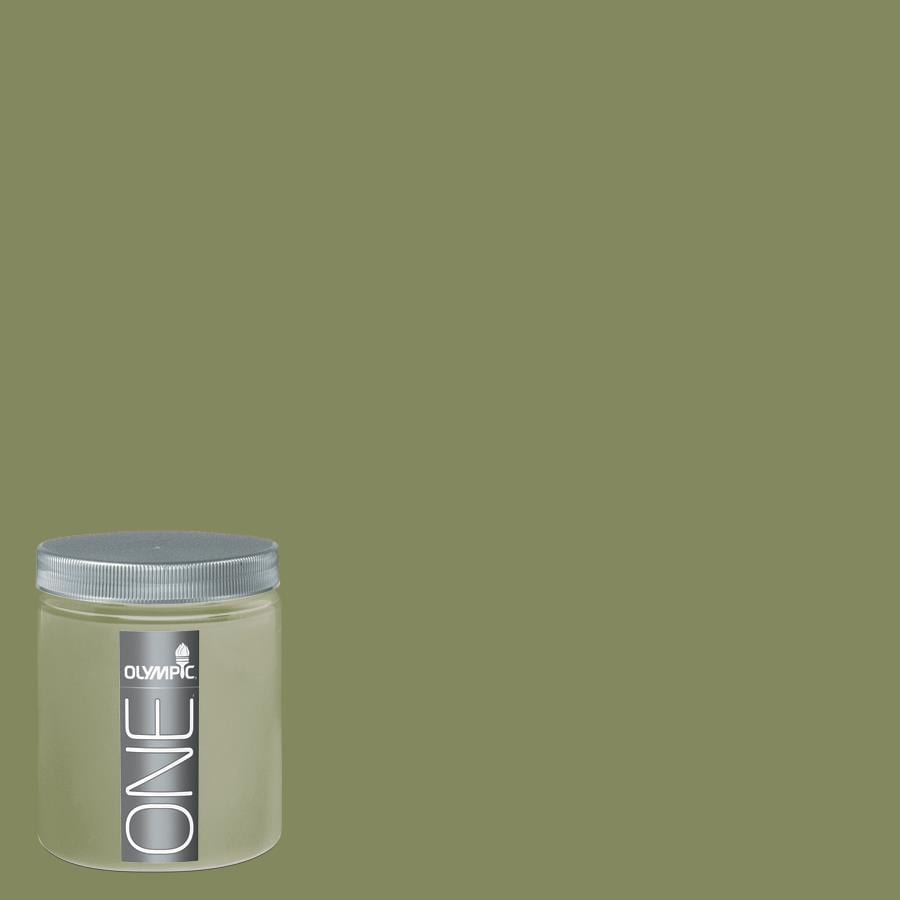 Moss Green Paint Colors: Shop Olympic 8-oz Moss Point Green Interior Satin Paint