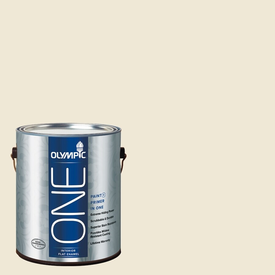 Olympic ONE Creamy White Semi-Gloss Latex Interior Paint and Primer In One (Actual Net Contents: 124-fl oz)
