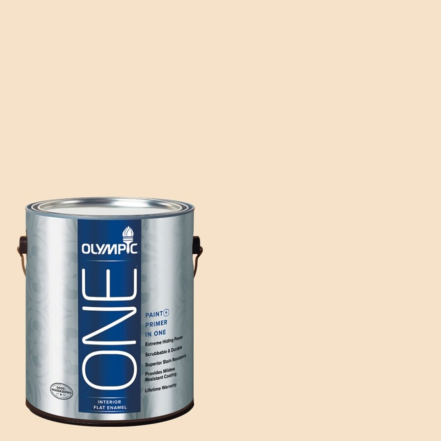 Olympic ONE Magnolia Spray Flat Latex Interior Paint and Primer In One (Actual Net Contents: 124-fl oz)