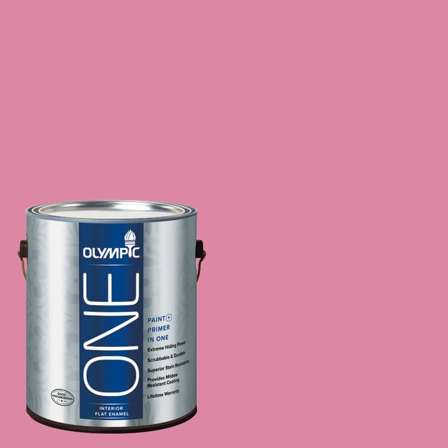 Olympic ONE Rose Glory Flat Latex Interior Paint and Primer In One (Actual Net Contents: 116-fl oz)