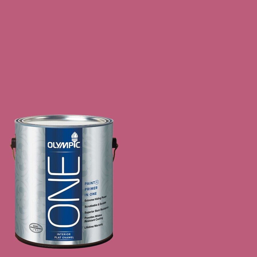 Olympic ONE Panama Rose Flat Latex Interior Paint and Primer In One (Actual Net Contents: 114-fl oz)