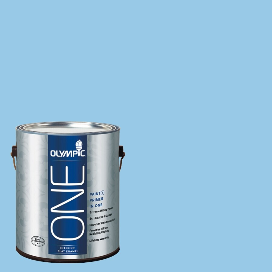 Olympic ONE Sweet Dreams Flat Latex Interior Paint and Primer In One (Actual Net Contents: 124-fl oz)