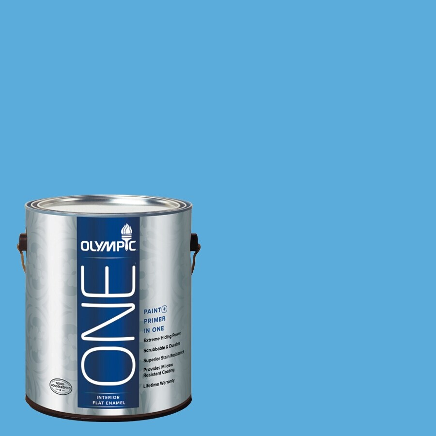 Olympic ONE Windjammer Flat Latex Interior Paint and Primer In One (Actual Net Contents: 116-fl oz)
