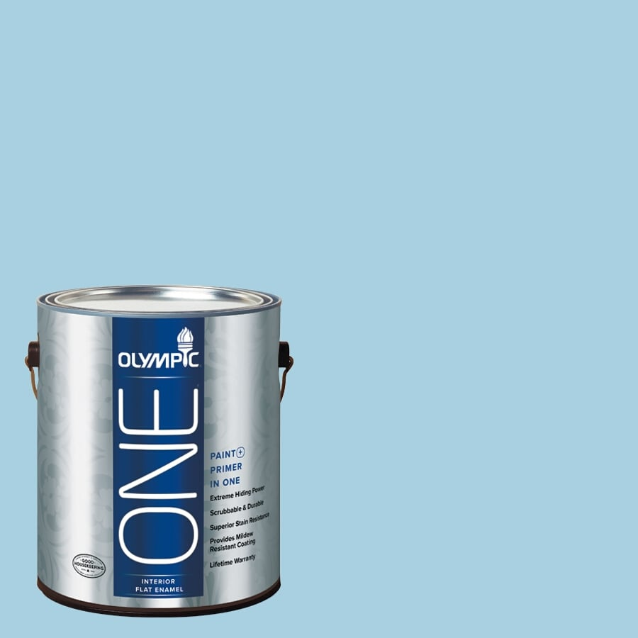 Olympic ONE Spring Water-Basedfall Flat Latex Interior Paint and Primer In One (Actual Net Contents: 124-fl oz)