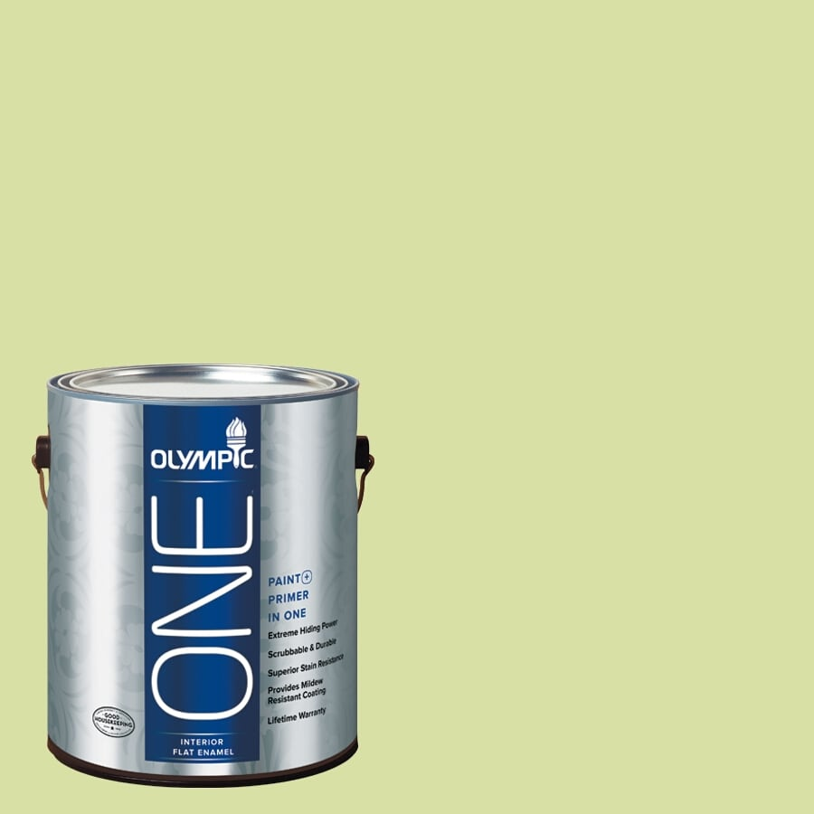 Olympic ONE Green Grapes Flat Latex Interior Paint and Primer In One (Actual Net Contents: 124-fl oz)