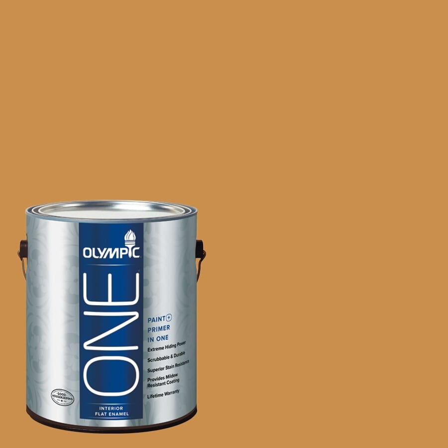 Olympic ONE Allspice Flat Latex Interior Paint and Primer In One (Actual Net Contents: 114-fl oz)