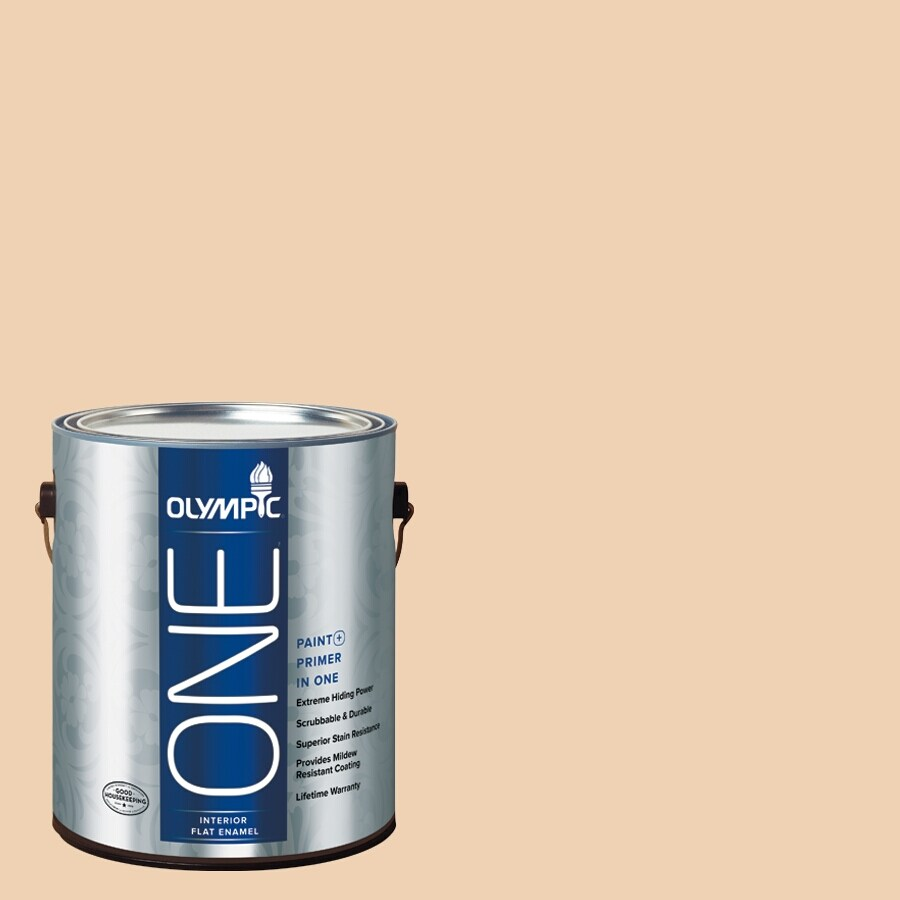 Olympic ONE Apple Crunch Flat Latex Interior Paint and Primer In One (Actual Net Contents: 124-fl oz)