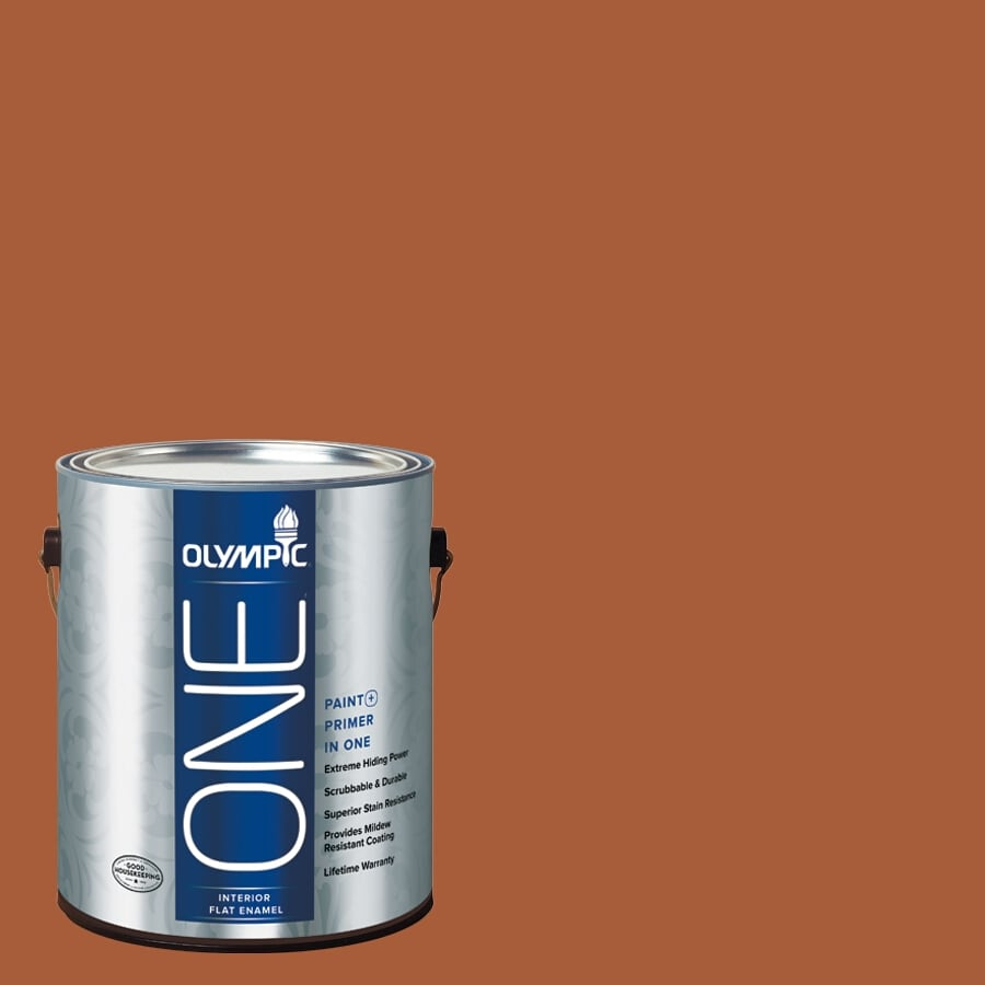 Olympic ONE Fragrant Cloves Flat Latex Interior Paint and Primer In One (Actual Net Contents: 114-fl oz)