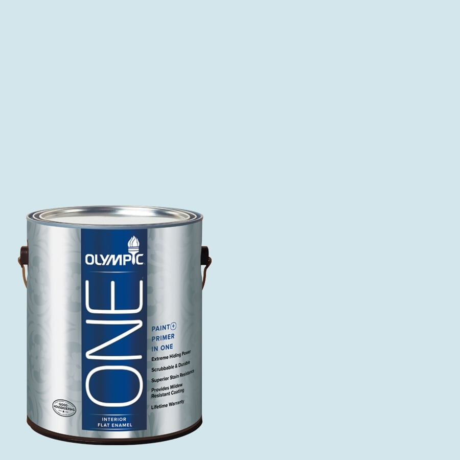 Olympic ONE Ocean Breeze Flat Latex Interior Paint and Primer In One (Actual Net Contents: 124-fl oz)