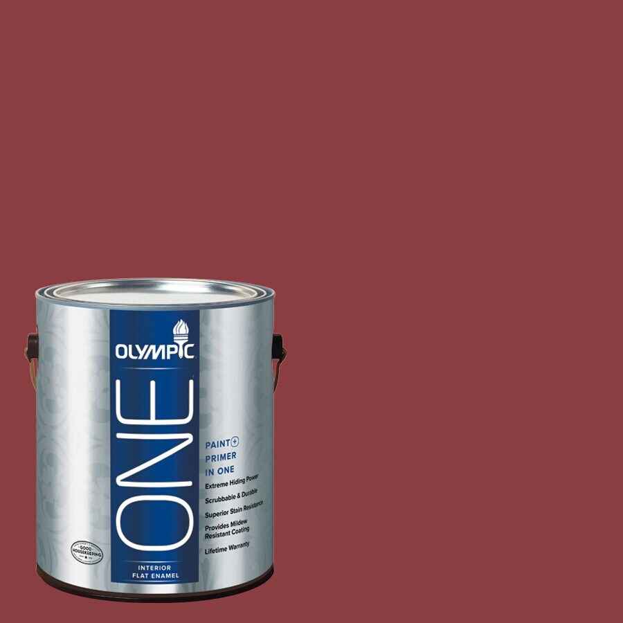 Olympic ONE Apple-A-Day Flat Latex Interior Paint and Primer In One (Actual Net Contents: 114-fl oz)