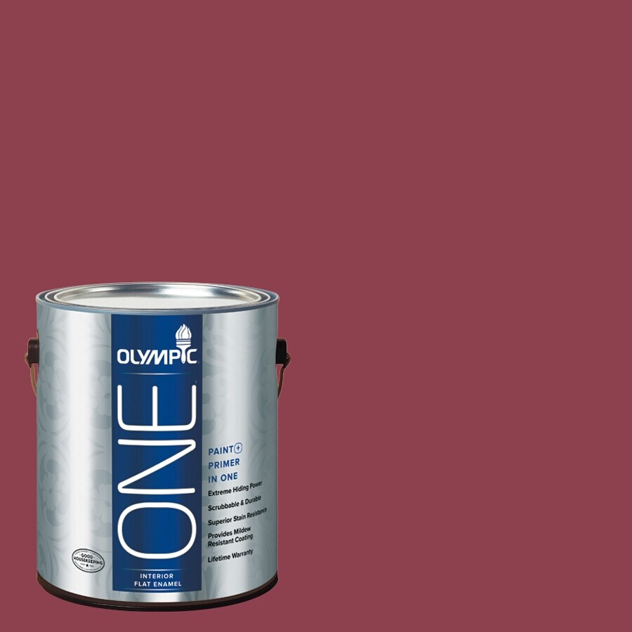 Olympic ONE Madeira Red Flat Latex Interior Paint and Primer In One (Actual Net Contents: 114-fl oz)