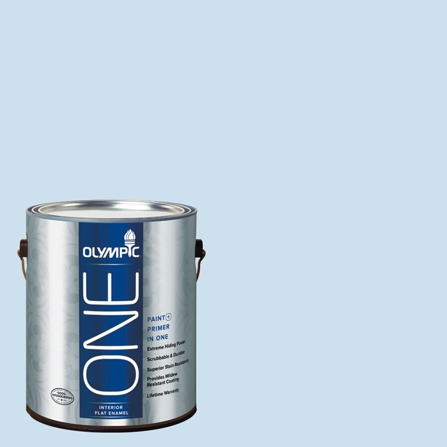 Olympic ONE Cloud Nine Flat Latex Interior Paint and Primer In One (Actual Net Contents: 124-fl oz)