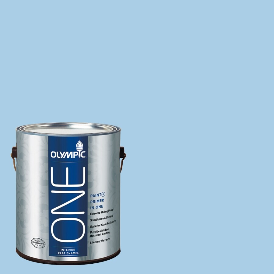 Olympic ONE Spa Flat Latex Interior Paint and Primer In One (Actual Net Contents: 124-fl oz)