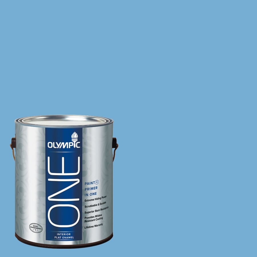 Olympic One Ship's Ahoy Flat Latex Interior Paint and Primer in One (Actual Net Contents: 116-fl oz)