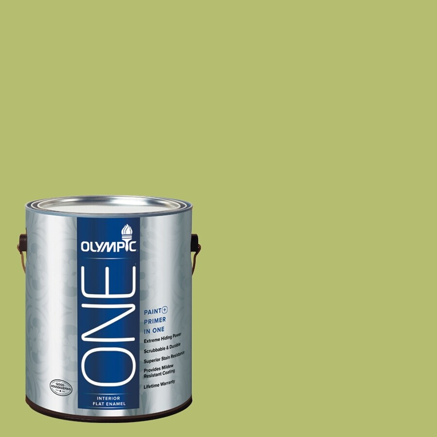 Olympic ONE Lime Green Flat Latex Interior Paint and Primer In One (Actual Net Contents: 116-fl oz)