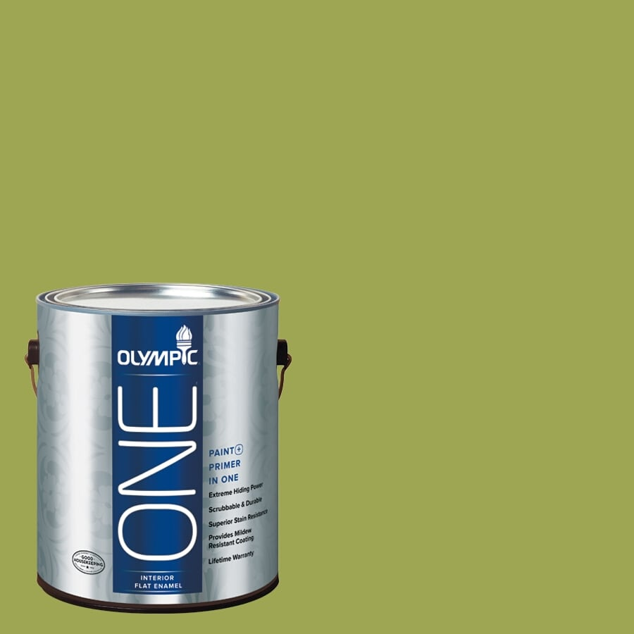 Olympic ONE Asparagus Flat Latex Interior Paint and Primer In One (Actual Net Contents: 114-fl oz)