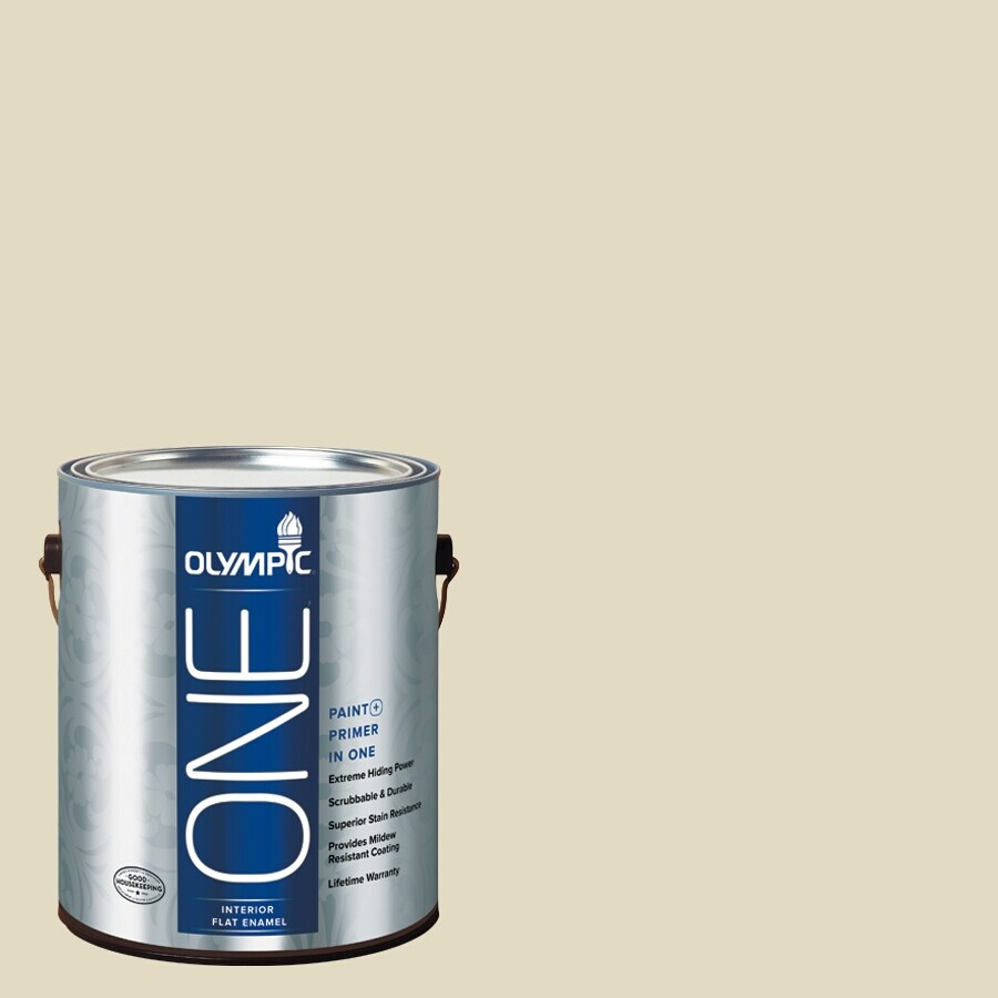 Olympic ONE Bamboo Flat Latex Interior Paint and Primer In One (Actual Net Contents: 124-fl oz)