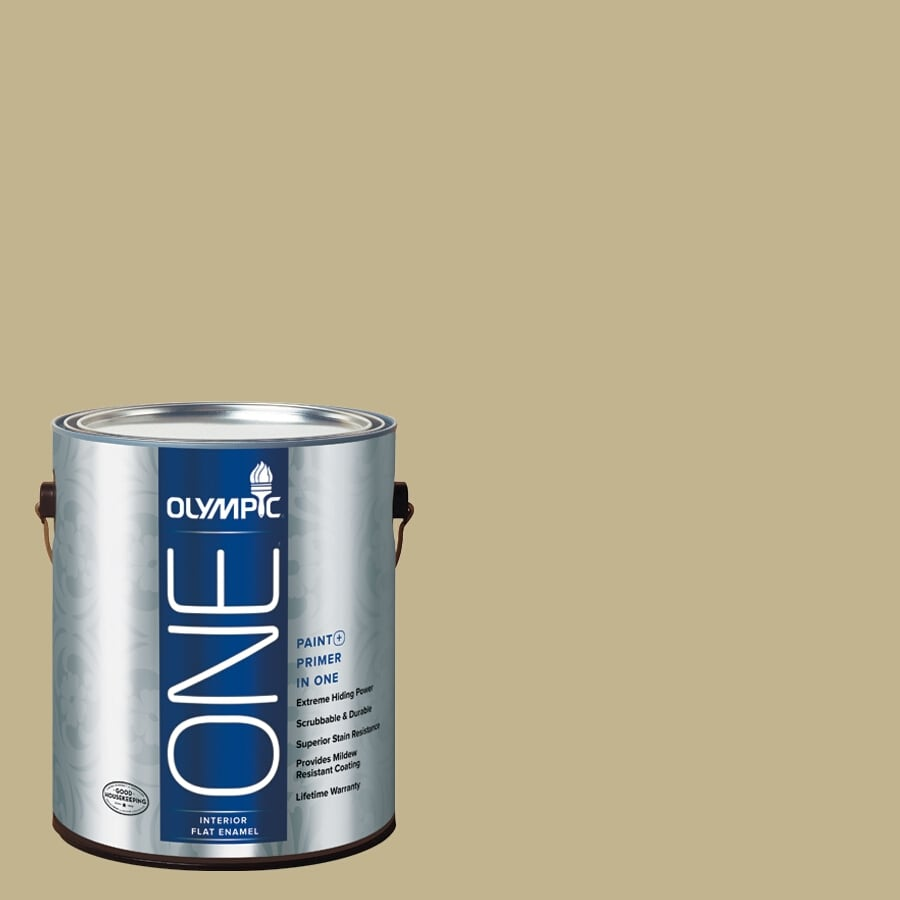 Olympic ONE Crocodile Tears Flat Latex Interior Paint and Primer In One (Actual Net Contents: 116-fl oz)