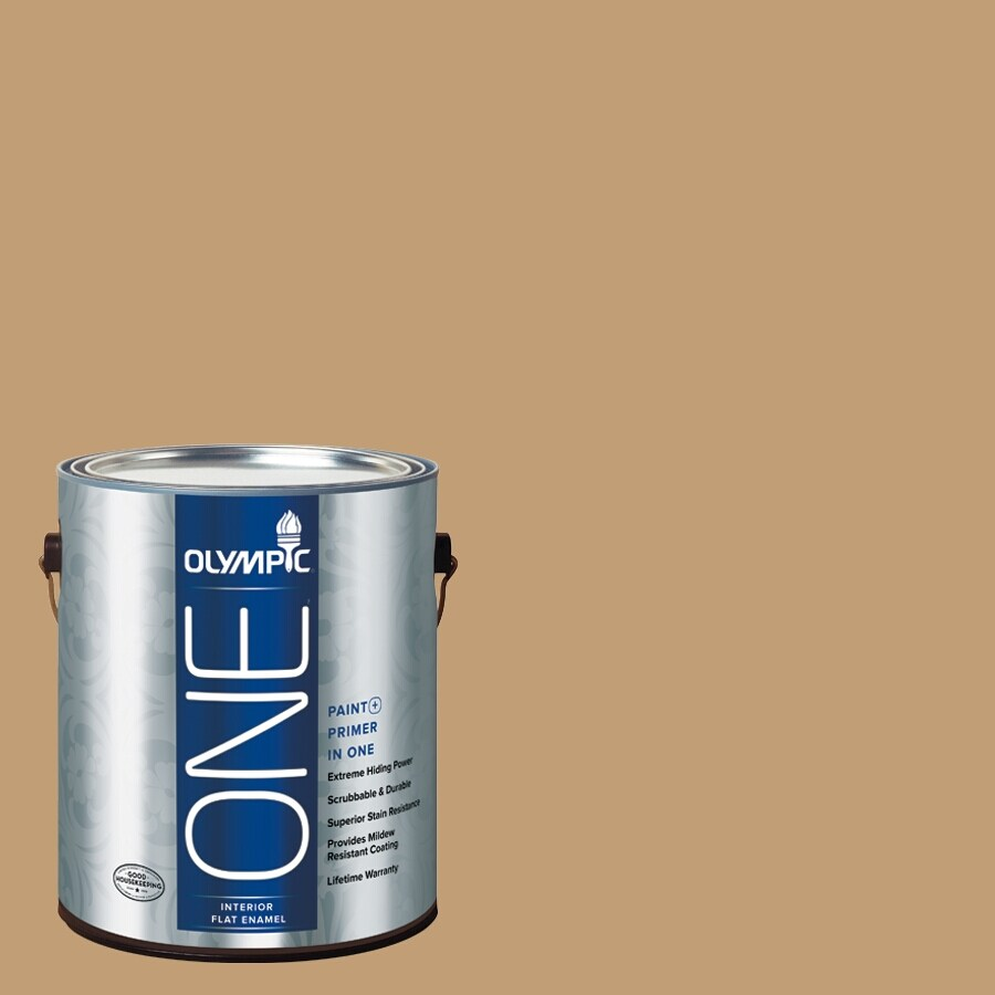 Olympic ONE Applesauce Cake Flat Latex Interior Paint and Primer In One (Actual Net Contents: 116-fl oz)