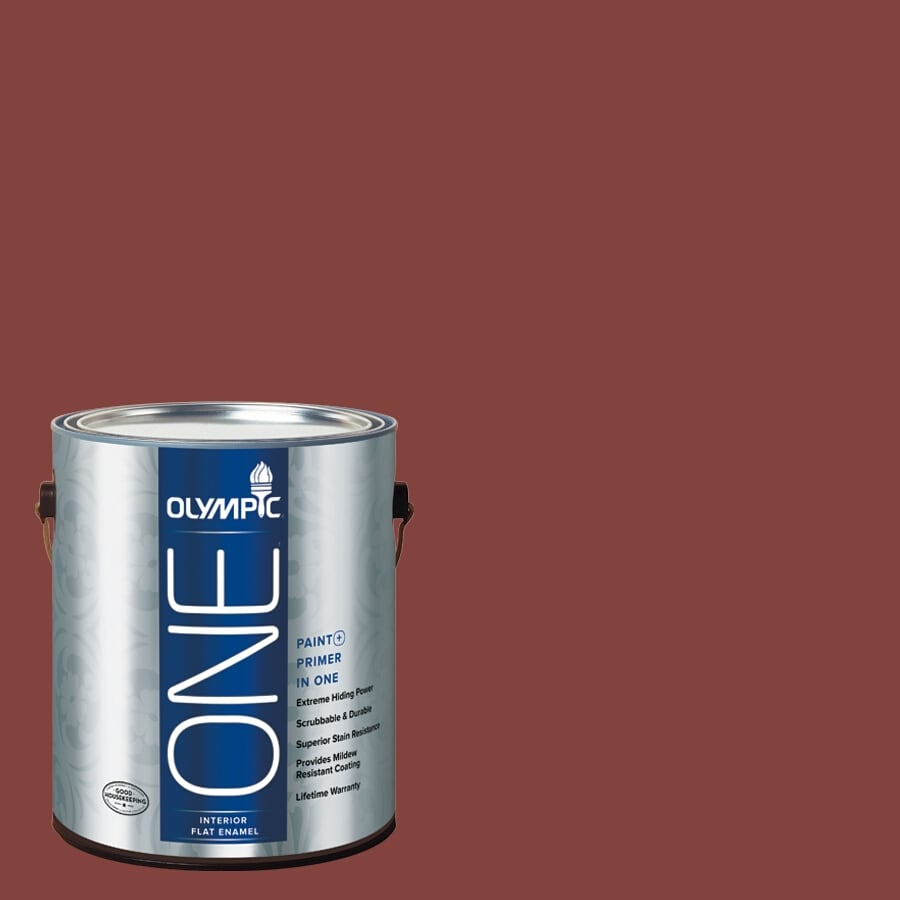 Olympic ONE Brick Dust Flat Latex Interior Paint and Primer In One (Actual Net Contents: 114-fl oz)
