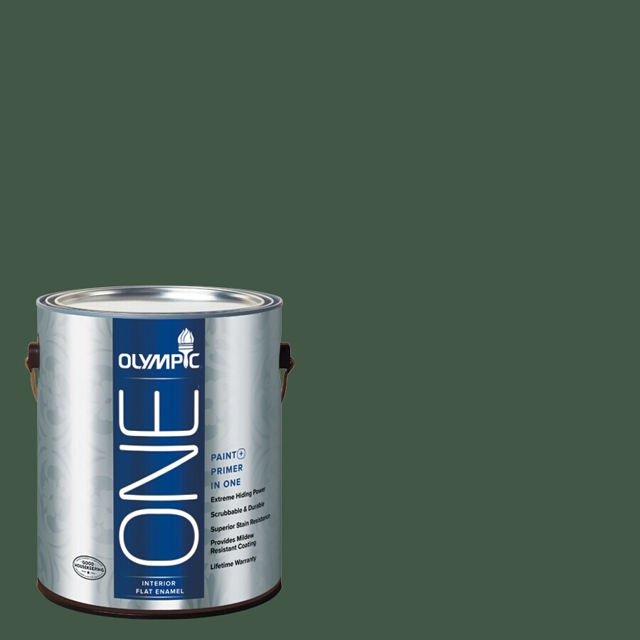 Olympic ONE Royal Hunter Green Flat Latex Interior Paint and Primer In One (Actual Net Contents: 114-fl oz)