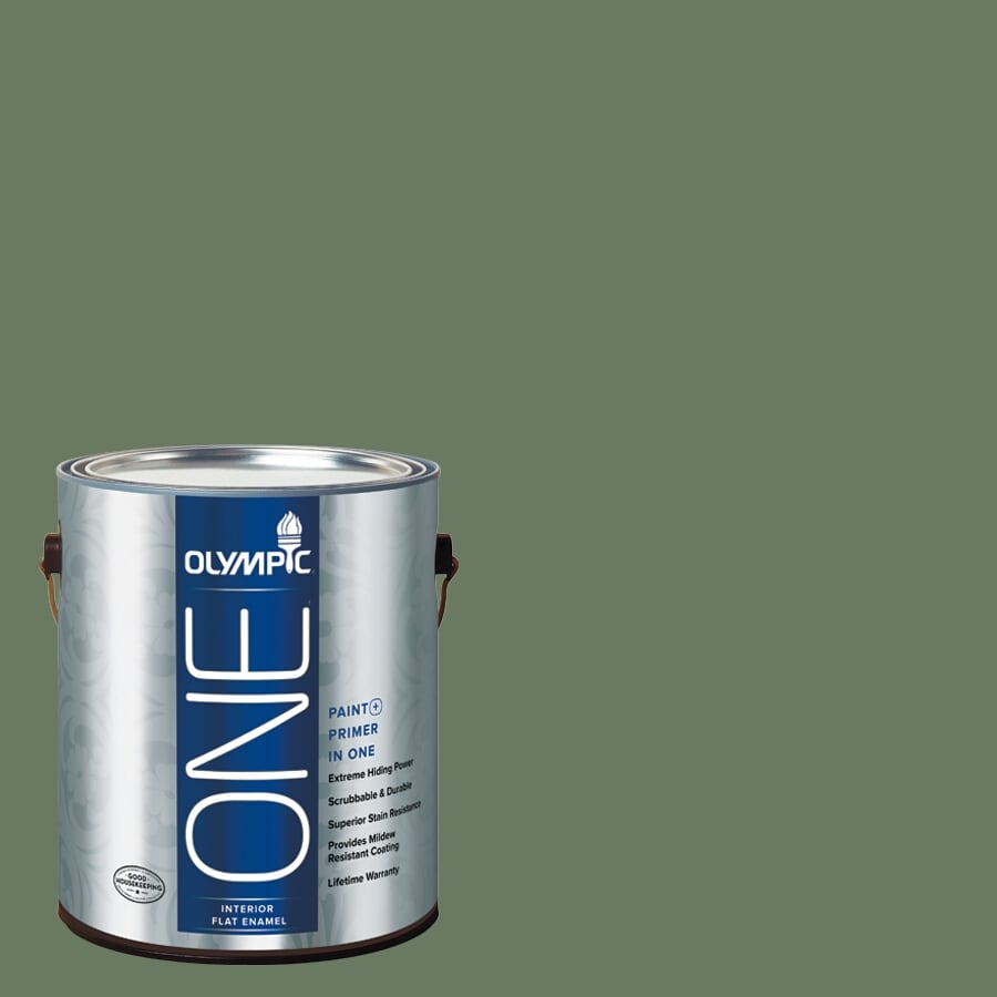 Olympic ONE Chives Flat Latex Interior Paint and Primer In One (Actual Net Contents: 114-fl oz)