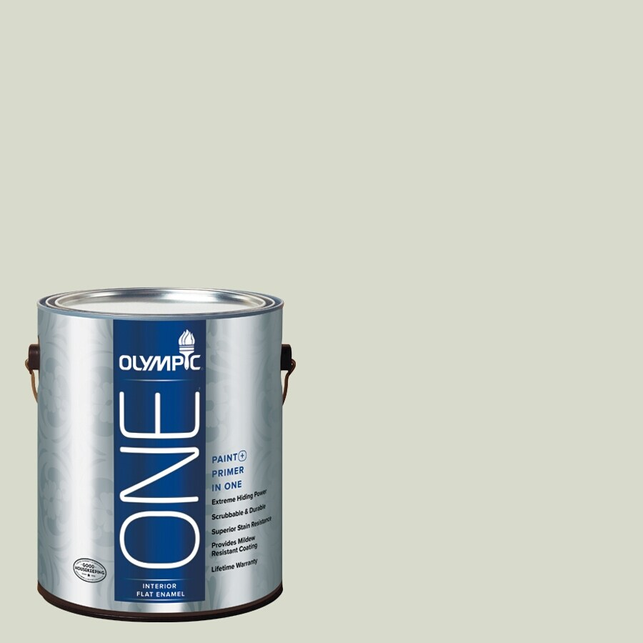 Olympic ONE Pale Vista Flat Latex Interior Paint and Primer In One (Actual Net Contents: 124-fl oz)