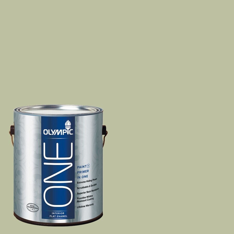 Olympic ONE Quaking Grass Flat Latex Interior Paint and Primer In One (Actual Net Contents: 124-fl oz)