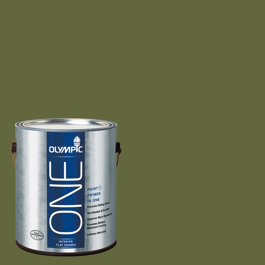 Olympic ONE Globe Artichoke Flat Latex Interior Paint and Primer In One (Actual Net Contents: 114-fl oz)