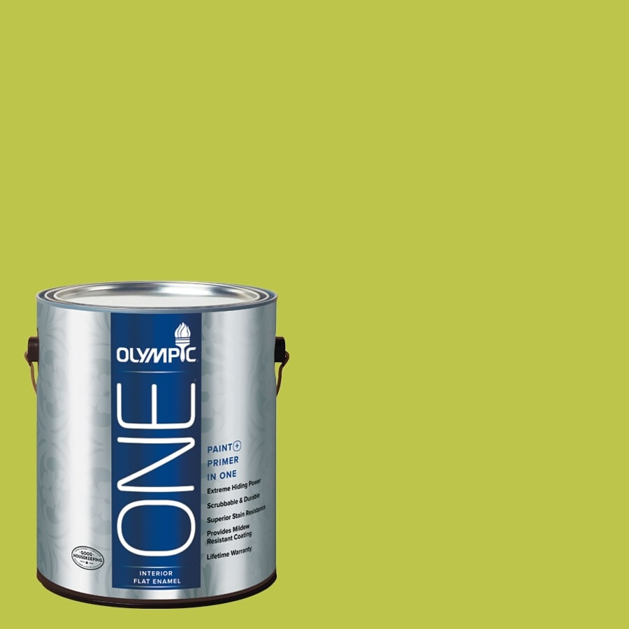 Olympic ONE Lemon Grass Flat Latex Interior Paint and Primer In One (Actual Net Contents: 114-fl oz)