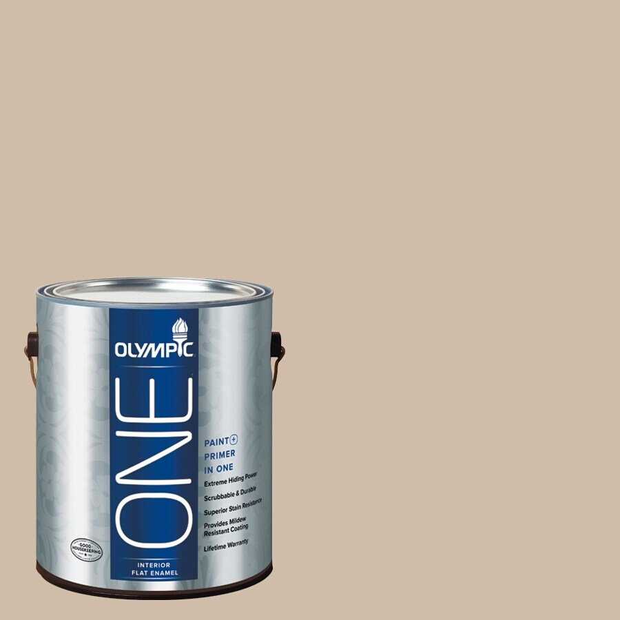 Olympic ONE Camel Flat Latex Interior Paint and Primer In One (Actual Net Contents: 124-fl oz)