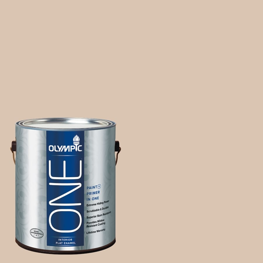 Olympic ONE Imperial Sand Flat Latex Interior Paint and Primer In One (Actual Net Contents: 124-fl oz)