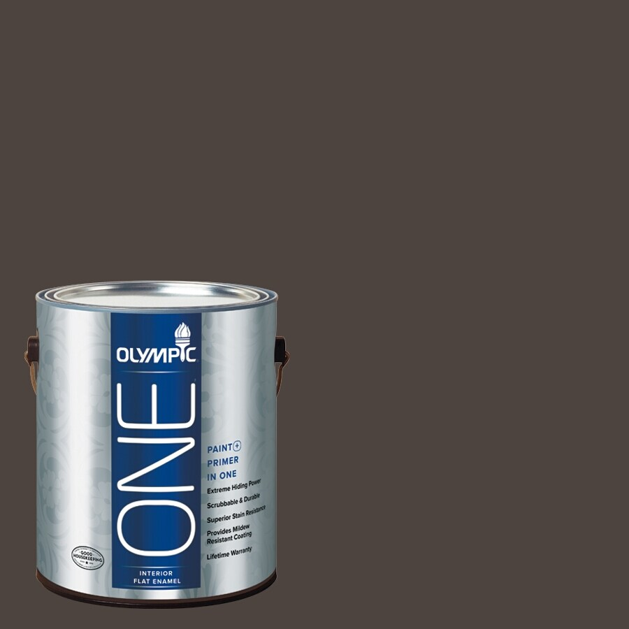 Olympic ONE Dark Granite Flat Latex Interior Paint and Primer In One (Actual Net Contents: 114-fl oz)
