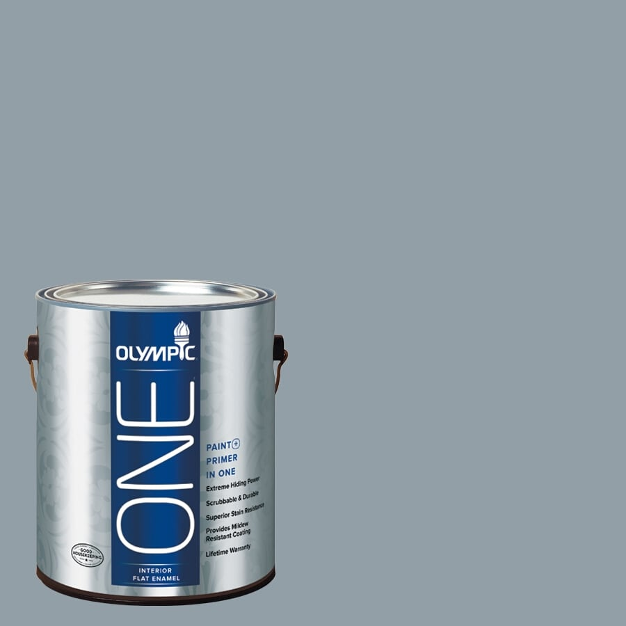 Olympic ONE Quicksilver Flat Latex Interior Paint and Primer In One (Actual Net Contents: 116-fl oz)