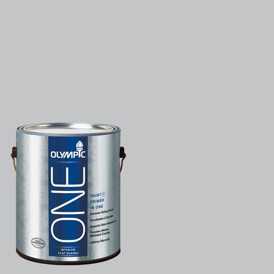 Olympic ONE Secret Passage Flat Latex Interior Paint and Primer In One (Actual Net Contents: 124-fl oz)