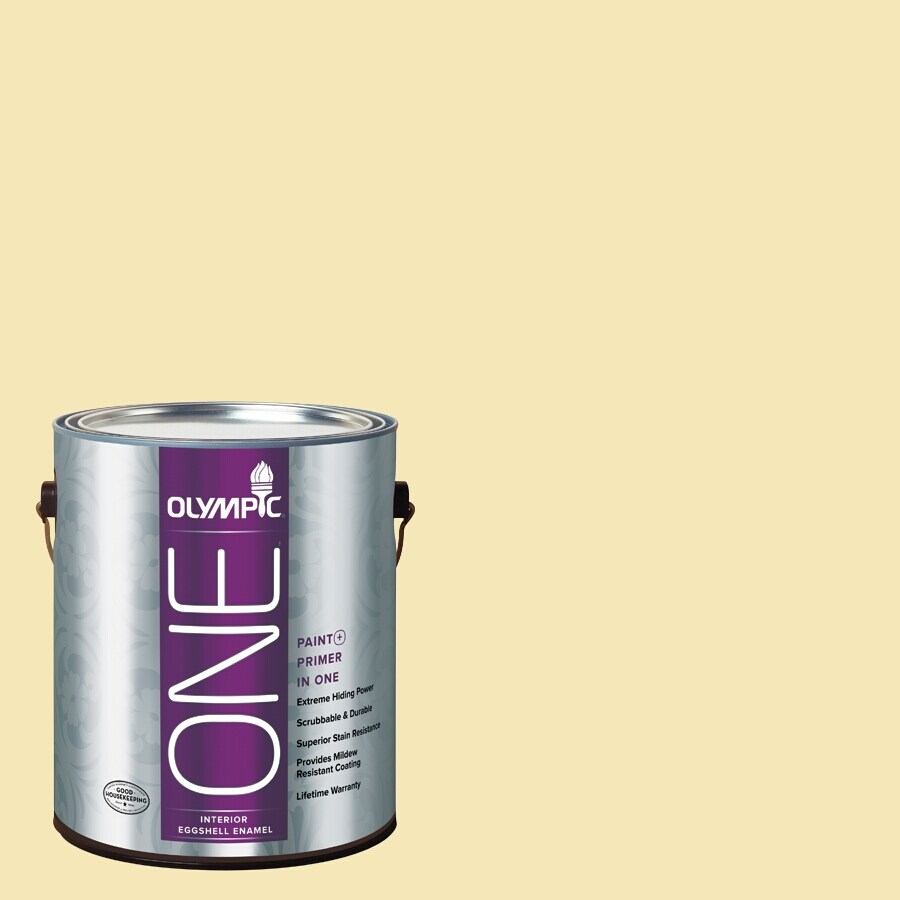 Olympic ONE Butter Eggshell Latex Interior Paint and Primer In One (Actual Net Contents: 124-fl oz)