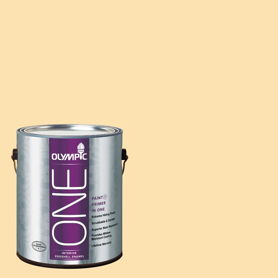 Olympic ONE Flax Eggshell Latex Interior Paint and Primer In One (Actual Net Contents: 114-fl oz)