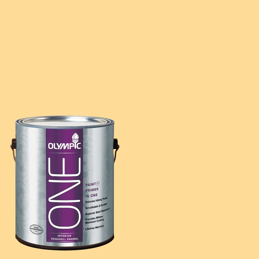 Olympic ONE Golden Slumber Eggshell Latex Interior Paint and Primer In One (Actual Net Contents: 124-fl oz)