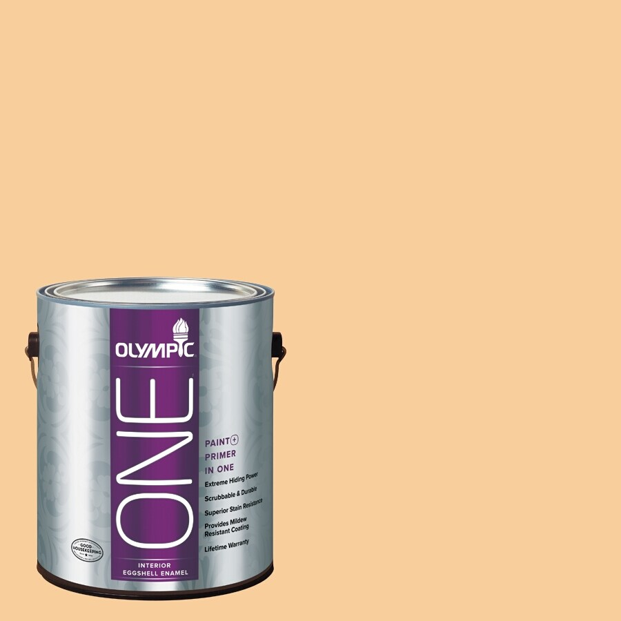 Olympic ONE HONEy Butter Eggshell Latex Interior Paint and Primer In One (Actual Net Contents: 124-fl oz)