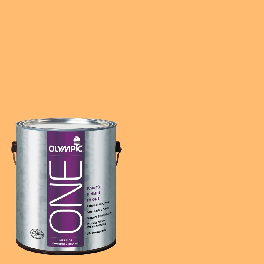 Olympic ONE Japanese Koi Eggshell Latex Interior Paint and Primer In One (Actual Net Contents: 116-fl oz)